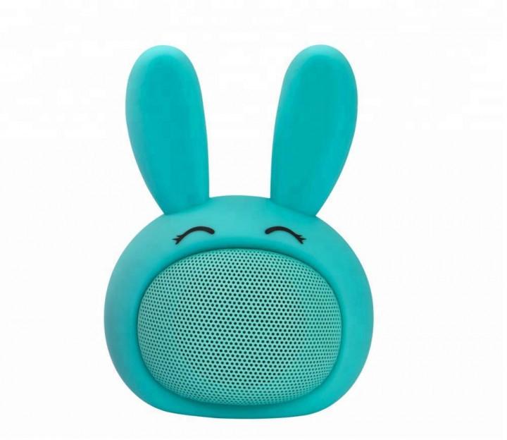 Детская портативная Bluetooth-колонка iCutes Зайчик MB-M815, бирюзовая