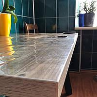 2 мм Прозрачная силиконовая скатерть стекло  ширина 1 м на МЕТРАЖ
