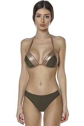 Купальник бикини с уплотненной чашкой Push Up Kesell 2033 коричневый на 42 44 46 48 50 размер, фото 2