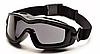 Тактическая защитная маска для глаз на резинке Pyramex V2G-PLUS с черными линзами