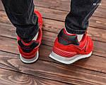 Замшевые мужские кроссовки New Balance 574 (красные) KS 1446, фото 3