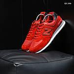 Замшевые мужские кроссовки New Balance 574 (красные) KS 1446, фото 4