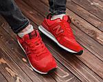 Замшевые мужские кроссовки New Balance 574 (красные) KS 1446, фото 5