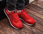 Замшевые мужские кроссовки New Balance 574 (красные) KS 1446, фото 6