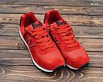 Замшевые мужские кроссовки New Balance 574 (красные) KS 1446, фото 7