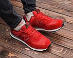 Замшевые мужские кроссовки New Balance 574 (красные) KS 1446, фото 8