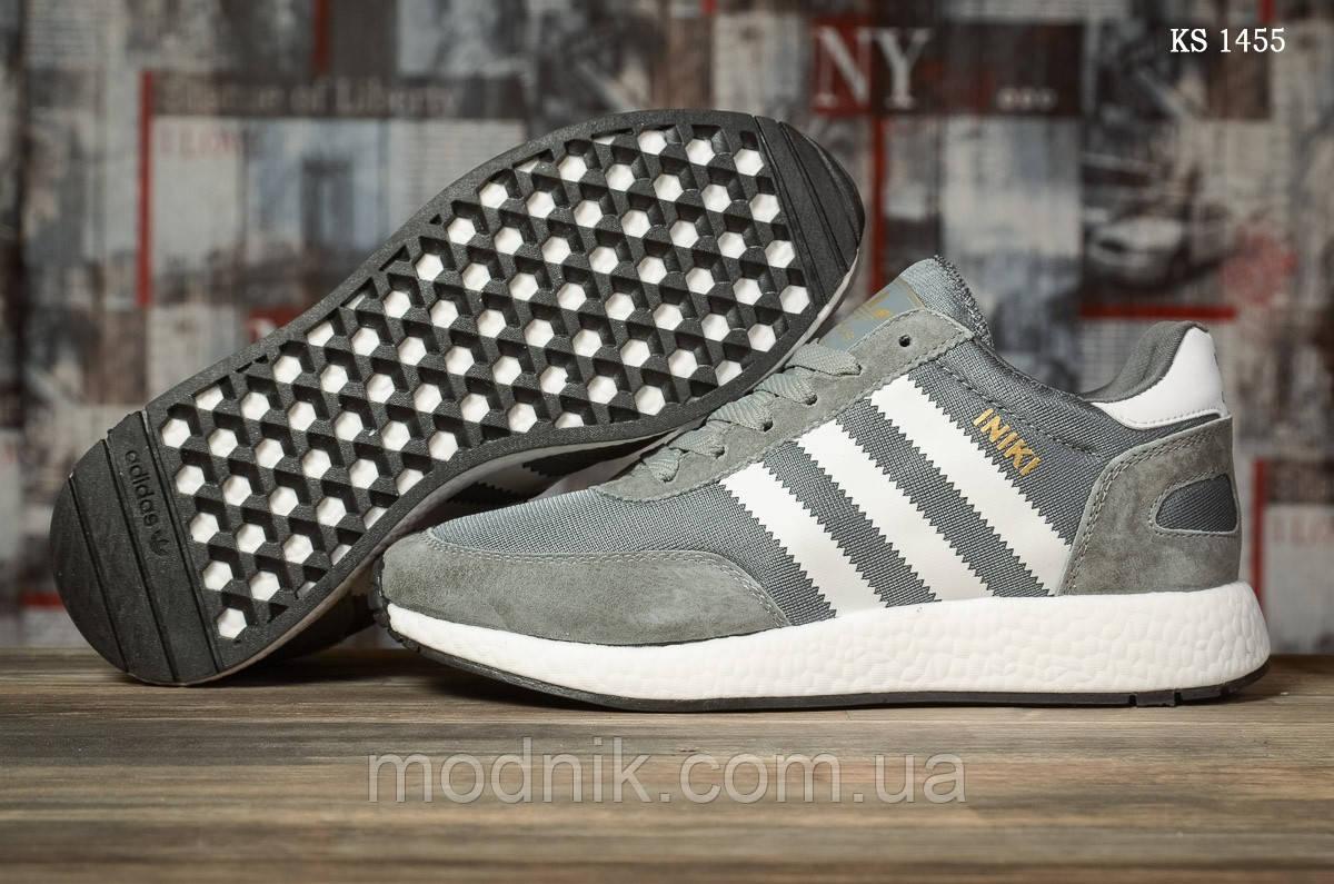 Мужские кроссовки Adidas Iniki Runner (черно/белые) KS 1455
