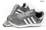 Мужские кроссовки Adidas Iniki Runner (черно/белые) KS 1455, фото 5