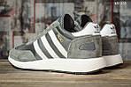 Мужские кроссовки Adidas Iniki Runner (черно/белые) KS 1455, фото 9