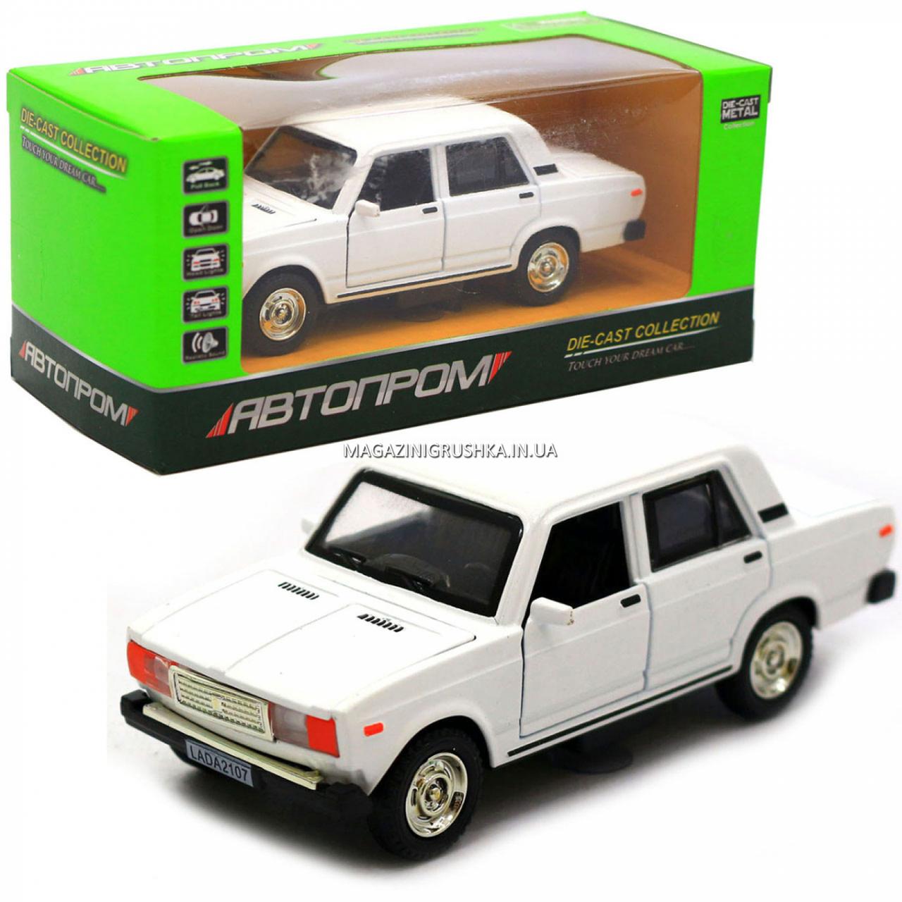 Машинка ігрова Автопром Жигулі Білий зі світловими і звуковими ефектами (7794)