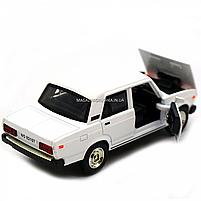 Машинка ігрова Автопром Жигулі Білий зі світловими і звуковими ефектами (7794), фото 8