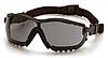 Защитные тактические очки Pyramex V2G с черными линзами и съемными дужками