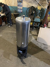 Водонагреватель-титан на дровах 90 л из нержавейки 1,5 мм, фото 2