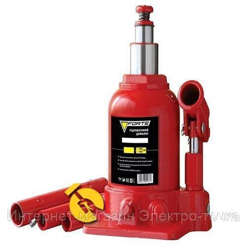 Домкрат гидравлический бутылочный   2т, 5.4 кг Forte TF0202-2T