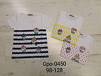 Футболка для девочек оптом, Glo-story, 98-128 см, aрт. GPO-0450