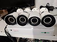 Комплект  Видеонаблюдения на 4 Камер наружный