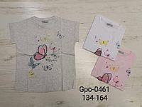 Футболка для девочек оптом, Glo-story, 134-164 см, aрт. GPO-0461