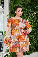 """Платье больших размеров """" Воланы """" Yulia, фото 1"""