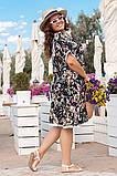 Платье из штапеля, в романтическом стиле. Короткий цельнокроеный рукав, р.48,50,52,54 код 3214Ф, фото 4