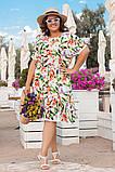 Платье из штапеля, в романтическом стиле. Короткий цельнокроеный рукав, р.48,50,52,54 код 3214Ф, фото 2