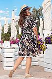 Платье из штапеля, в романтическом стиле. Короткий цельнокроеный рукав, р.48,50,52,54 код 3214Ф, фото 5