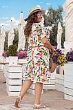 Платье из штапеля, в романтическом стиле. Короткий цельнокроеный рукав, р.48,50,52,54 код 3214Ф, фото 3