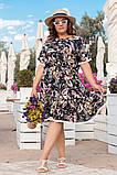 Платье из штапеля, в романтическом стиле. Короткий цельнокроеный рукав, р.48,50,52,54 код 3214Ф, фото 6