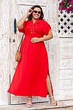 Платье прямого, свободного силуэта с цельнокроеным рукавом, из штапеля, 3 цвета . р.Oversize 48-54 код 3229Ф, фото 4