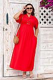 Платье прямого, свободного силуэта с цельнокроеным рукавом, из штапеля, 3 цвета . р.Oversize 48-54 код 3229Ф, фото 5