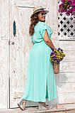 Платье прямого, свободного силуэта с цельнокроеным рукавом, из штапеля, 3 цвета . р.Oversize 48-54 код 3229Ф, фото 3