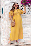 Платье прямого, свободного силуэта с цельнокроеным рукавом, из штапеля, 3 цвета . р.Oversize 48-54 код 3229Ф, фото 7