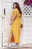 Платье прямого, свободного силуэта с цельнокроеным рукавом, из штапеля, 3 цвета . р.Oversize 48-54 код 3229Ф, фото 8