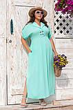 Платье прямого, свободного силуэта с цельнокроеным рукавом, из штапеля, 3 цвета . р.Oversize 48-54 код 3229Ф, фото 2