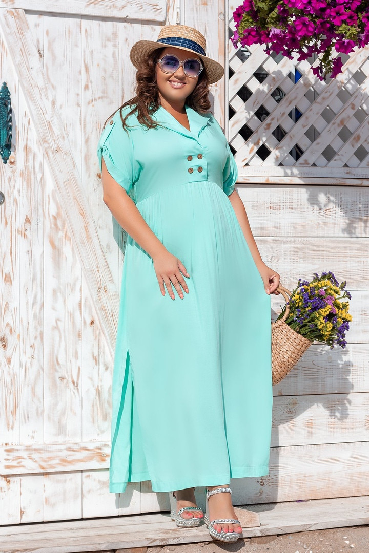 Платье прямого, свободного силуэта с цельнокроеным рукавом, из штапеля, 3 цвета . р.Oversize 48-54 код 3229Ф