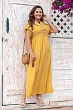 Платье прямого, свободного силуэта с цельнокроеным рукавом, из штапеля, 3 цвета . р.Oversize 48-54 код 3229Ф, фото 9