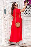 Платье прямого, свободного силуэта с цельнокроеным рукавом, из штапеля, 3 цвета . р.Oversize 48-54 код 3229Ф, фото 6