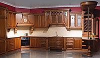 «кухня «Эксклюзивная» с угловой вытяжкой, дуб, цвет №263 с бронзовой патиной»