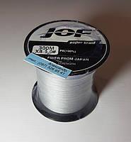 Плетеный  шнур  JOF  300м (0.18 мм /22lbs/10kg) Серый 8 нитей
