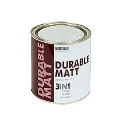 Краска для металла с молотковым эффектом Biodur 3 в 1, 0,7л серебристо-серая