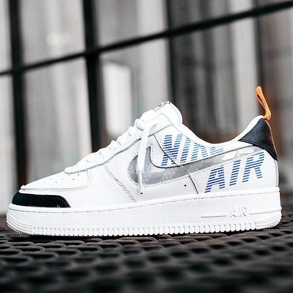 Кроссовки мужские Nike Air Force 1 Low Under Construction (белые) (Top replic)