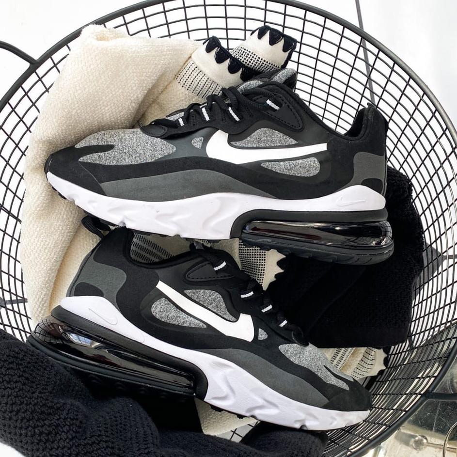 Кроссовки мужские Nike Air Max 270 React Optical (черные-белые) (Top replic)