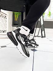 Кроссовки мужские Nike Air Max 270 React Optical (черные-белые) (Top replic), фото 2