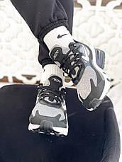 Кроссовки мужские Nike Air Max 270 React Optical (черные-белые) (Top replic), фото 3