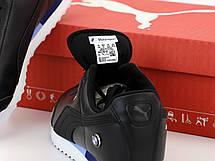Кроссовки мужские Puma Roma BMW (черные) (Top replic), фото 3
