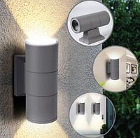 Фасадный светильник, 2*E27 IP65 LM994 серый, без лампы, фото 1