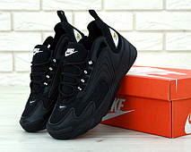 Кроссовки мужские Nike ZooM 2K полностью черные (Top replic), фото 2