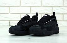 Кроссовки мужские Nike ZooM 2K полностью черные (Top replic), фото 3