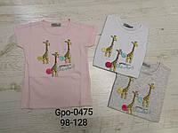 Футболка для девочек оптом, Glo-story, 98-128 см, aрт. GPO-0475