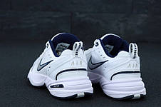 Кроссовки мужские Nike Monarch белые-синие (Top replic), фото 2
