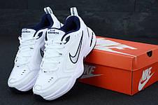 Кроссовки мужские Nike Monarch белые-синие (Top replic), фото 3
